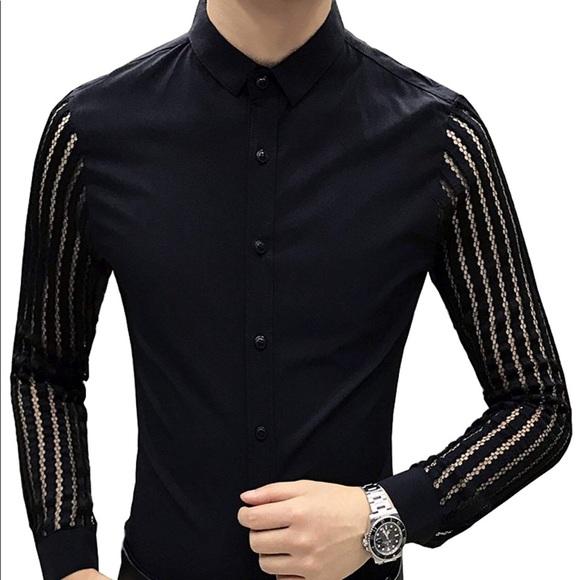 cc5eb125b4 Shirts | Mens Button Down Shirt W Knitted Sleeves | Poshmark